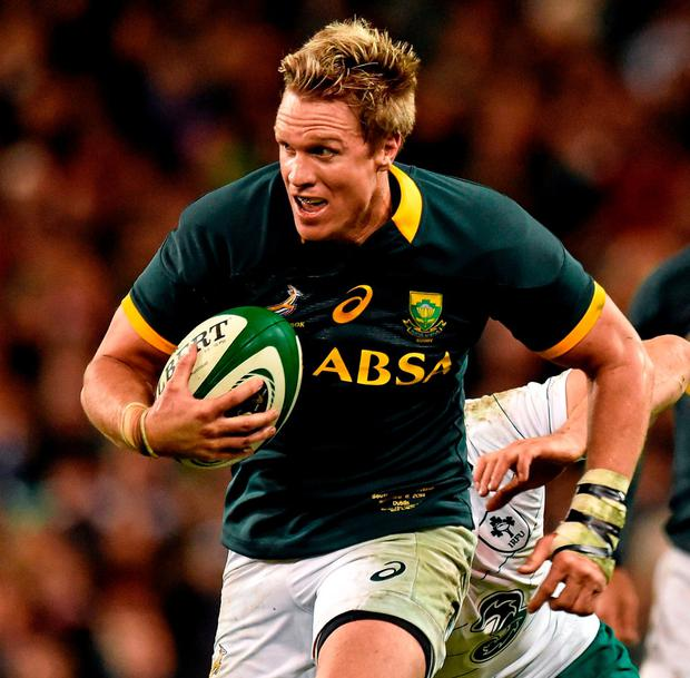 Jean de Villiers in action for South Africa. Photo: Matt Browne/SPORTSFILE