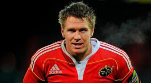 Jean de Villiers in action for Munster back in 2009. Photo: Ray McManus/SPORTSFILE