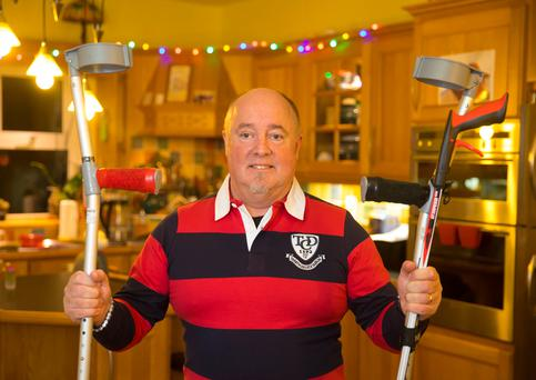 Chris Boyne from Bree in Enniscorthy, Co Wexford, had his hip replacement operation in the North and is urging patients waiting for surgery to do the same. Photo: Patrick Browne