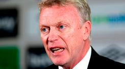 In this job, I'm having to go back to the David Moyes at Preston where the players were crying at their work, or even Everton in the early days as well. Photo: PA