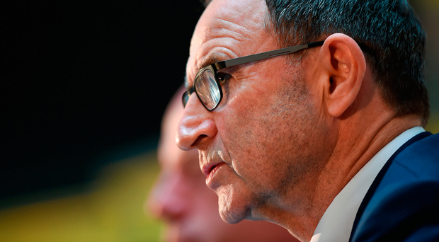 26 September 2017; Republic of Ireland manager Martin O'Neill during a Q&A session following a press conference at the Aviva HQ in Hatch Street Upper, Dublin. Photo by Seb Daly/Sportsfile
