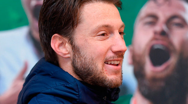 Harry Arter couldn't resist getting into the mix on a fun late night Twitter exchange with his Ireland team-mates. Photo by Matt Browne/Sportsfile Photo: Sportsfile