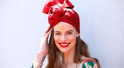 Robyn Lawley poses at the Kennedy Marquee on Kennedy Oaks Day at Flemington Racecourse on November 9, 2017 in Melbourne, Australia. (Photo by Graham Denholm/Getty Images for the VRC)
