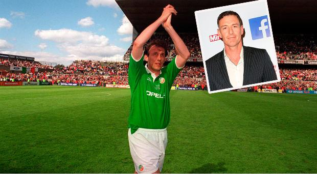 Tony Cascarino and (inset) Chris Sutton