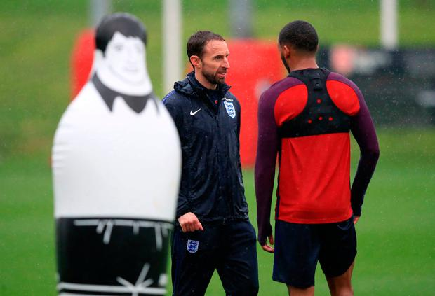 England manager Gareth Southgate (left) and Joe Gomez