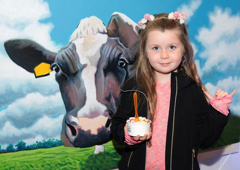 Brooke Torpey pictured at the launch of National Dairy Council's Complete Natural POP Up Milk Bar in South William Street, Dublin.