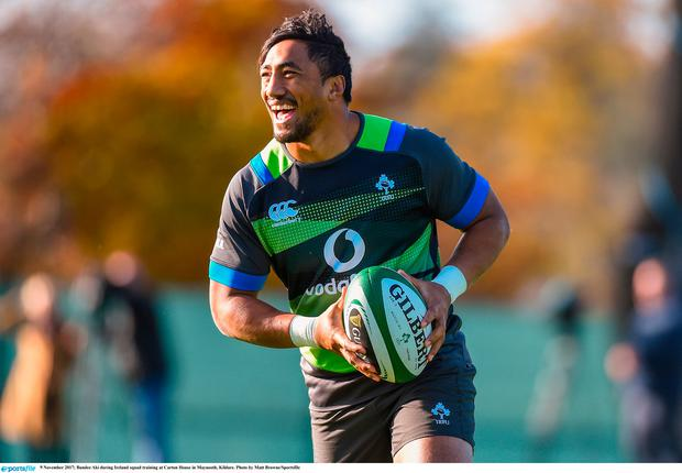 Bundee Aki will make his Ireland debut on Saturday