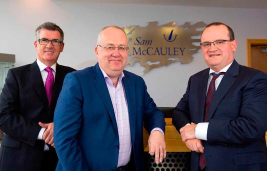 Non-Executive Director Tony Keohane, Chairman Jimmy Tolan and CEO Tony McEntee