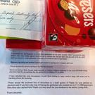 The letter, cheque and chocolates that the woman sent to Dublin Airport