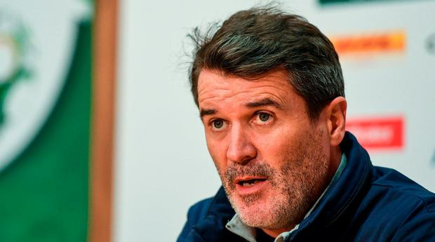 Republic of Ireland assistant manager Roy Keane during a Republic of Ireland press conference at FAI National Training Centre in Abbotstown, Dublin. Photo by Eóin Noonan/Sportsfile