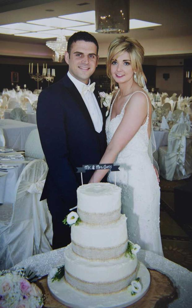 Fintan and Pamela Goss pictured on their wedding day