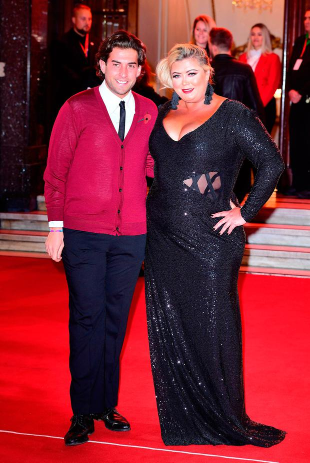 James Argent and Gemma Collins attending the ITV Gala held at the London Palladium