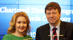 Karen Hennessy, CEO of the Design & Crafts Council of Ireland and Liam Young, director of Errigal Bay