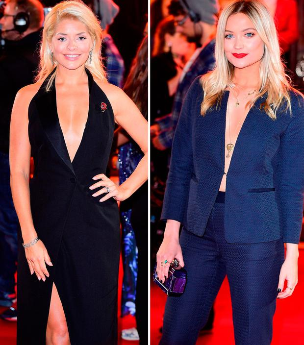 Holly Willoughby, left, and Laura Whitmore, right
