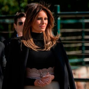 US First Lady Melania Trump visits the Beijing Zoo in Beijing on November 10, 2017. / AFP PHOTO / NICOLAS ASFOURINICOLAS ASFOURI/AFP/Getty Images