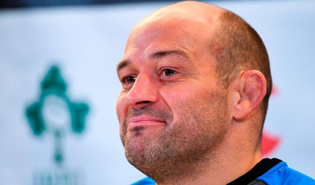 Rory Best during a press conference at Aviva Stadium in Dublin. Photo by Eóin Noonan/Sportsfile