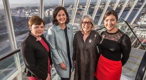 Pamela Byrne, FSAI, Fiona Muldoon, FBD Insurance, Darina Allen, Founder Ballymaloe Cookery School and Deirdre O'Shea, Executive Director Agri Aware and Ceres Network member attending the 'Shaping the Vision for Ireland's Agri-Food Industry 2030' conference organised by Ceres.Picture: Pat Moore