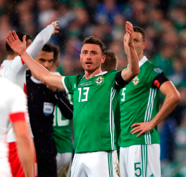 Northern Ireland's Corry Evans. Photo: PA
