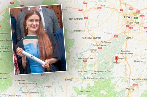 Family confirm death of young Irish woman in France