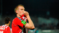 James McClean during his Derry days
