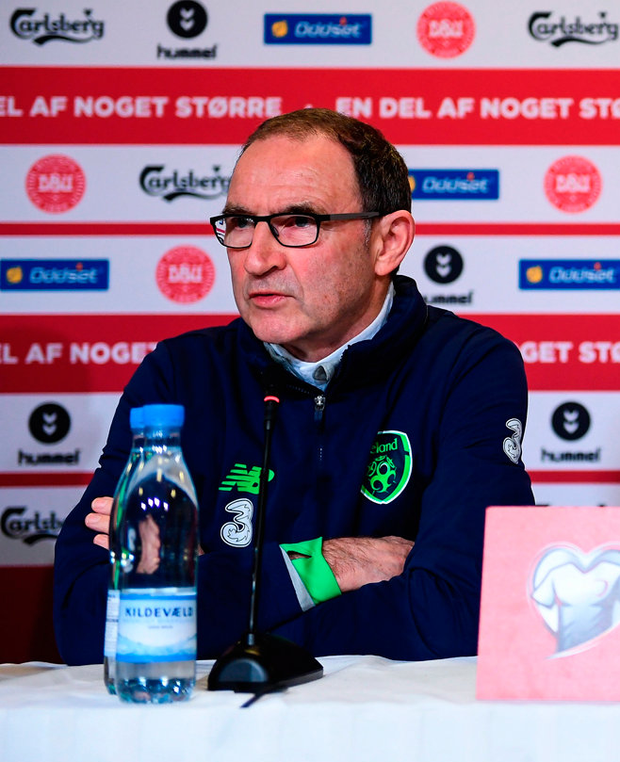 Martin O'Neill is anticipating a tricky night. Photo: Sportsfile
