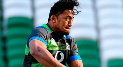 Joe Schmidt has no doubts that Bundee Aki deserves chance to play for Ireland. Photo: Sportsfile