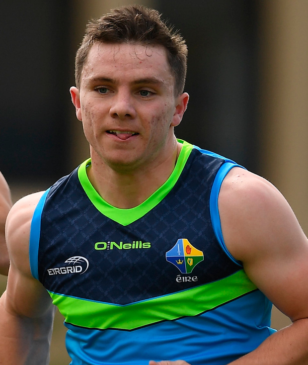 Sean Powter during Ireland International Rules squad training at Wesley College, St Kilda Road Complex, Melbourne, Australia. Photo: Sportsfile