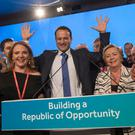 Taoiseach Leo Varadkar after he delivered his first conference speech as party leader at the Fine Gael's National Conference in Ballyconnell, Co Cavan. Photo: Fergal Phillips