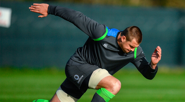 CJ Stander in action during an Irish training session at Carton House this week. Photo: Sportsfile
