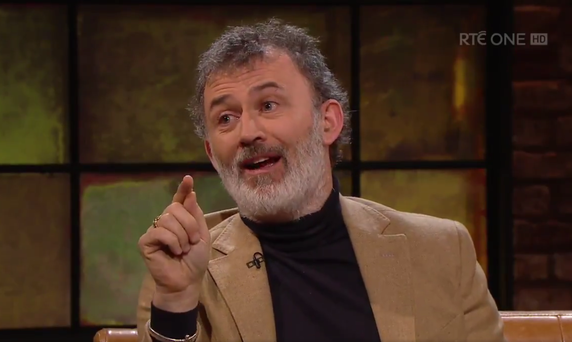 Tommy Tiernan on last night's Late Late Show. Photo: RTE