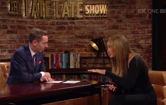 Caitlyn Jenner chats to Ryan Tubridy. Photo: RTE