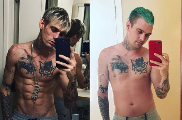 Aaron Carter shows off body transformation that's left him feeling 'amazing'