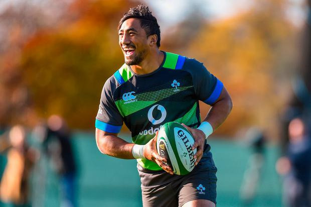 Bundee Aki during Ireland squad training at Carton House in Maynooth, Kildare. Photo by Matt Browne/Sportsfile