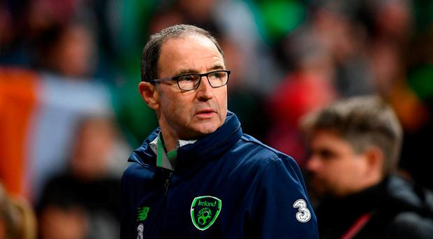 Republic of Ireland manager Martin O'Neill following the FIFA 2018 World Cup Qualifier Play-off 1st Leg match between Denmark and Republic of Ireland at Parken Stadium in Copenhagen, Denmark. Photo by Stephen McCarthy/Sportsfile