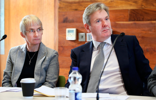 FEARS AND FACTIONS: Dr Fainche Ryan pictured alongside Stephen Rae, Editor-in-Chief of INM. Photo: Steve Humphreys