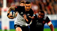 New Zealand's centre Sonny Bill Williams