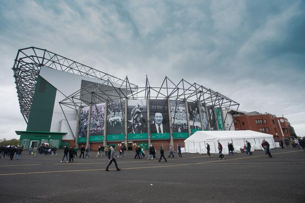 Scottish Premiership football, Celtic versus Dundee; General view of Celtic Park, home of Celtic (Photo by David Young/Action Plus via Getty Images)