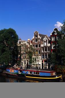 Huge attraction: the canals in Amsterdam