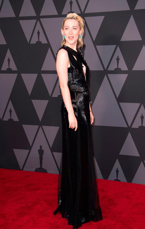 Actress Saoirse Ronan attends the 2017 Governors Awards, on November 11, 2017, in Hollywood, California. / AFP PHOTO / VALERIE MACONVALERIE MACON/AFP/Getty Images