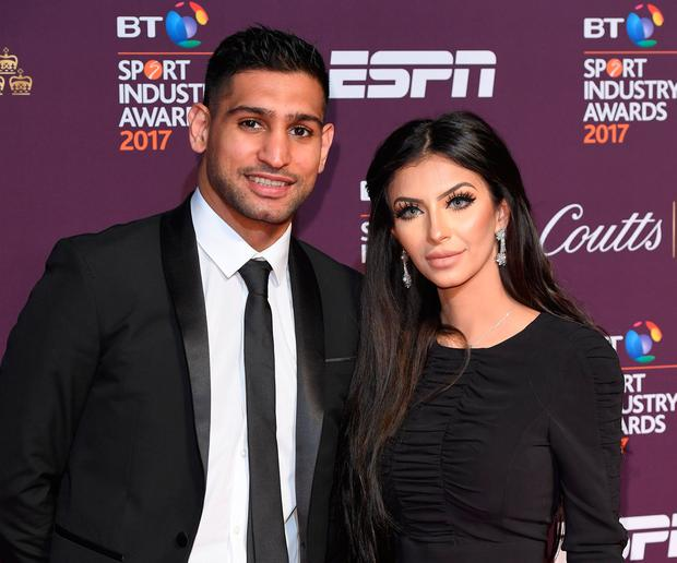 Amir Khan and Faryal Makhdoom attend the BT Sport Industry Awards at Battersea Evolution on April 27, 2017 in London, England. (Photo by Karwai Tang/WireImage)
