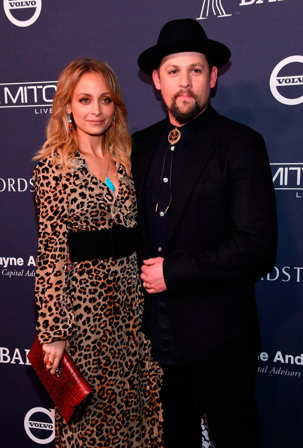 Nicole Richie and Joel Madden attend the 2017 Baby2Baby gala at 3labs in Culver City, November 11, 2017. / AFP PHOTO / CHRIS DELMASCHRIS DELMAS/AFP/Getty Images