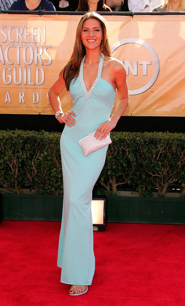 TV Personality Amanda Byram arrives at the 11th Annual Screen Actors Guild Awards at the Shrine Exposition Center on February 5, 2005 in Los Angeles, California. (Photo by Vince Bucci/Getty Images)