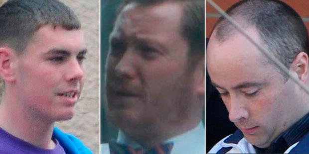 Pictured (L-R): Luke Wilson (23) from Cremona Road in Ballyfermot, Liam Brannigan (38) from Bride Street in Dublin 8, Alan Wilson (38) from New Street Gardens in Dublin 8