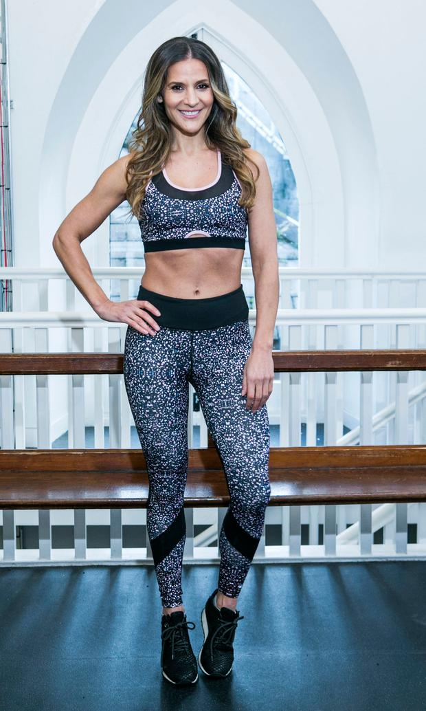 Amanda Byram pictured in Flyefit Gym Georges St launching her Body By Byram Active wear range. Picture: Kyran O'Brien