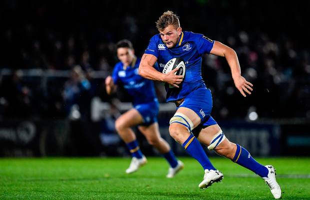 29 September 2017; Jordi Murphy of Leinster during the Guinness PRO14 Round 5 match between Leinster and Edinburgh at the RDS Arena in Dublin. Photo by Brendan Moran/Sportsfile