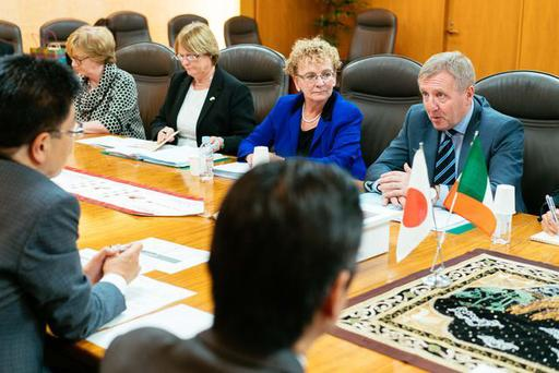 On day one of the Government of Ireland, Agri-Food Trade Mission to Asia, the Minister for Agriculture Food & Marine, Michael Creed TD, met with Japans Minister for Health Labour and Welfare Minister Katsunobu Kato.