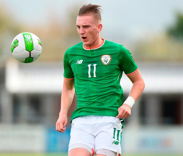 Republic of Ireland U21's Ronan Curtis. Photo by Matt Browne/Sportsfile