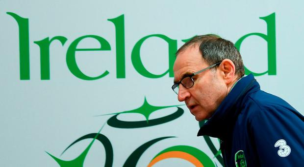 Ireland manager Martin O'Neill at yesterday's press conference. Photo: Stephen McCarthy/Sportsfile