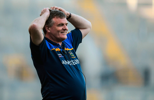 Tipperary manager Liam Kearns during the Allianz Football League Division 3 Final match between Louth and Tipperary at Croke Park in Dublin. Photo by Brendan Moran/Sportsfile
