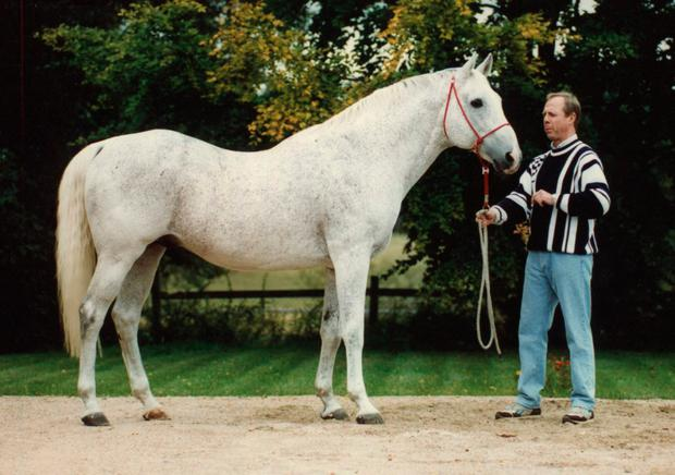 Norson pictured in 1990 with the late with the late Lars Gustavii.